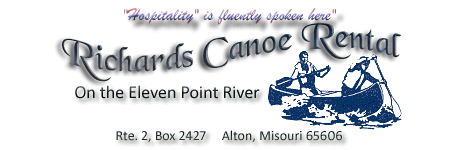 Richards' Canoe Rental on Missouri's Eleven Point River